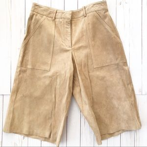 Theory suede shorts / culottes